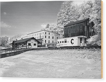 Wood Print featuring the photograph Train Depot by Mary Almond
