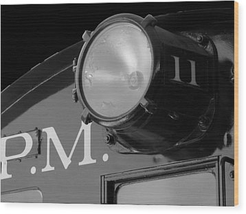 Wood Print featuring the photograph Train Headlight by Darleen Stry