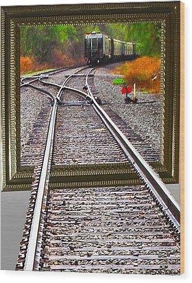 Train Oof Wood Print by Joe Granita