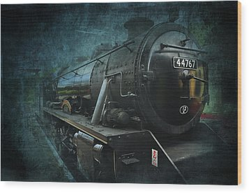 Train Wood Print by Svetlana Sewell