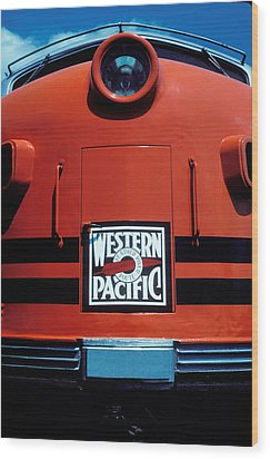 Train Western Pacific Wood Print by Garry Gay