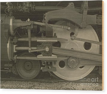 Train Wheels Wood Print by Photo Researchers