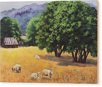 Tranquil Pastures Wood Print