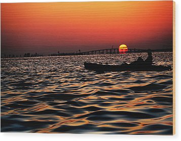 Wood Print featuring the photograph Tranquil Sea by Jalai Lama