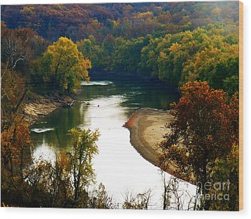 Wood Print featuring the photograph Tranquil View by Peggy Franz