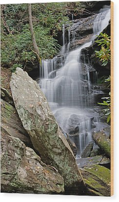Tranquil Waterfall Wood Print