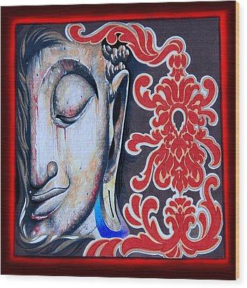 Tranquility Buddha Wood Print by Litos