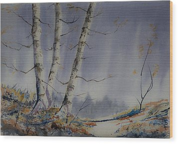 Wood Print featuring the painting Tranquility by Rob Hemphill