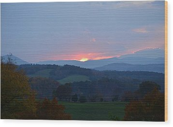Wood Print featuring the photograph Tranquill Sunset by Cathy Shiflett