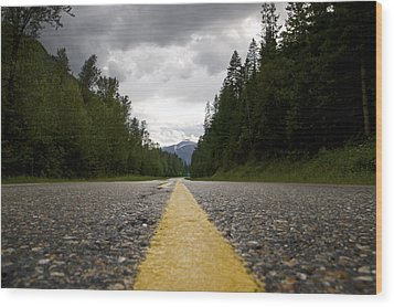 Trans Canada Highway Wood Print