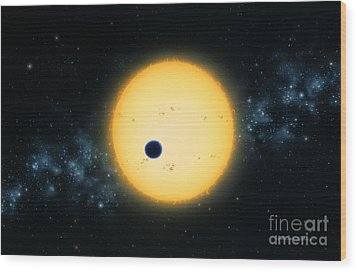 Transit Of Hd 209458 Wood Print by Lynette Cook