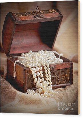 Treasure Chest Wood Print by Gabriela Insuratelu