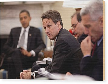 Treasury Secretary Timothy Geithner Wood Print by Everett