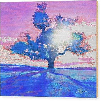 Tree Art 001 Wood Print by Suni Roveto