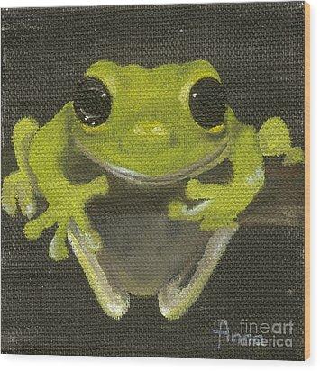 Tree Frog 2 Wood Print by Annemeet Hasidi- van der Leij