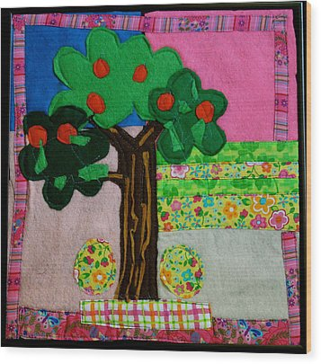 Tree Wood Print by Ghazel Rashid