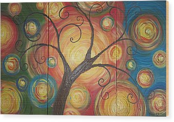 Tree Of Life  Wood Print by Ema Dolinar Lovsin