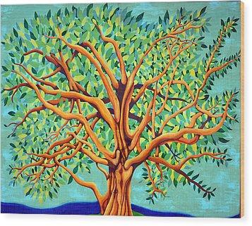 Tree Of Life Wood Print by Fraida Gutovich