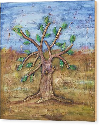 Tree Of Life Wood Print by Junior Polo