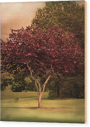 Tree Of Love Wood Print by Jai Johnson