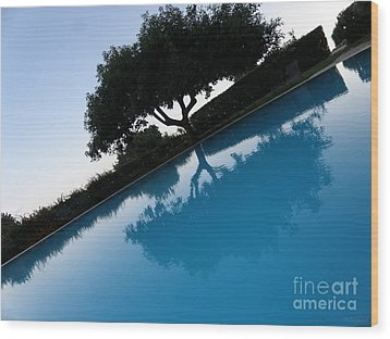 Wood Print featuring the photograph Tree Reflection by Tanya  Searcy
