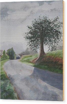 Wood Print featuring the painting Tree by Teresa Beyer
