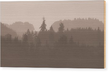 Wood Print featuring the photograph Trees by Katie Wing Vigil