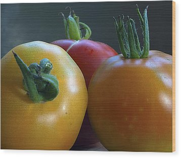 Wood Print featuring the photograph Tres Amigos by Joe Schofield
