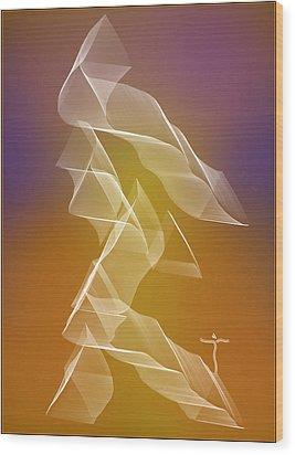 Wood Print featuring the digital art . by James Lanigan Thompson MFA