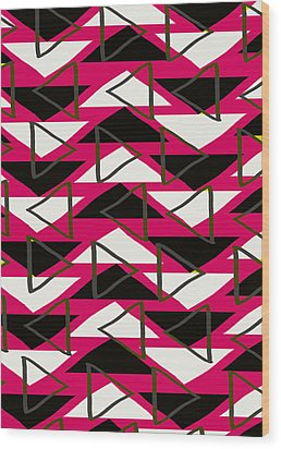 Triangles Wood Print by Louisa Knight