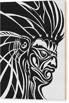 Tribal Leader Wood Print by Jack Norton