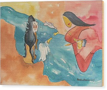 Wood Print featuring the painting Tribute by Geeta Biswas