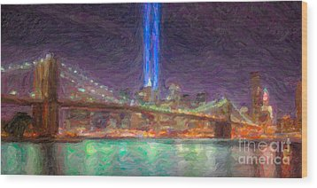 Tribute In Light Impasto Wood Print by Clarence Holmes