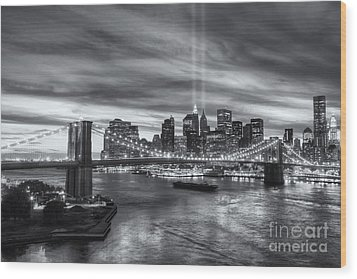 Tribute In Light V Wood Print by Clarence Holmes