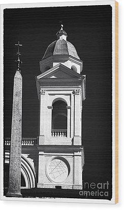 Trinita Church Tower Wood Print by John Rizzuto