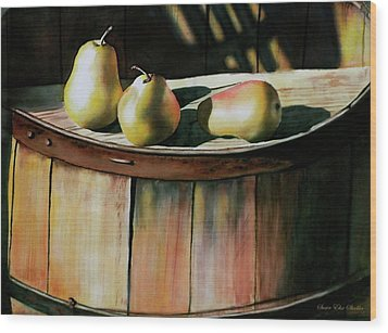 Trio Wood Print by Susan Elise Shiebler