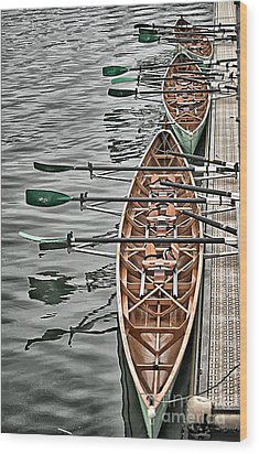 Wood Print featuring the photograph Triple Sculls by Jack Torcello