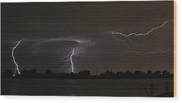 Triple Threat Wood Print by Alexander Spahn