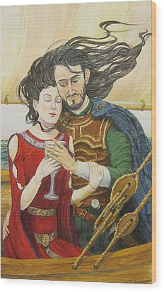 Tristan And Isolde Wood Print by Judy Riggenbach
