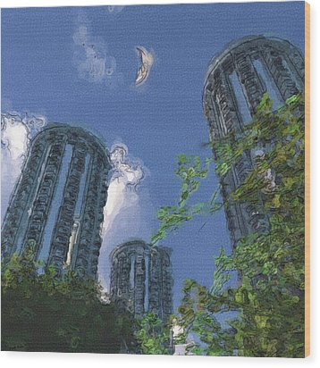 Triton Towers Wood Print by Richard Rizzo