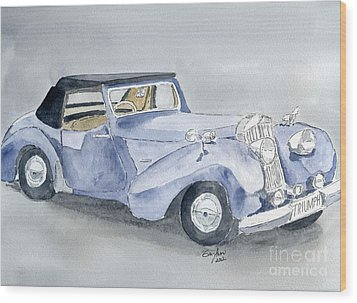 Triumph Roadster 45-49 Wood Print