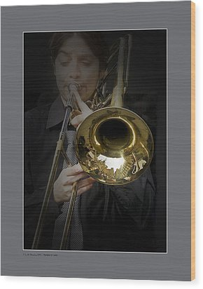Wood Print featuring the photograph Trombone by Pedro L Gili