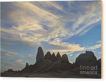 Trona Pinnacles Windswept Wood Print by Bob Christopher