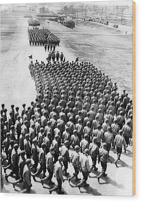 Troops Of The New 75th Infantry Wood Print by Everett