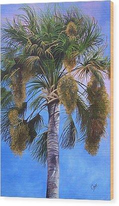Tropical Breezes Wood Print by Karen Casciani