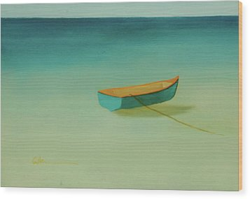 Tropical Calm Wood Print by Diane Cutter