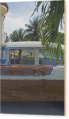 Tropical Chevy Wood Print by Cheri Randolph