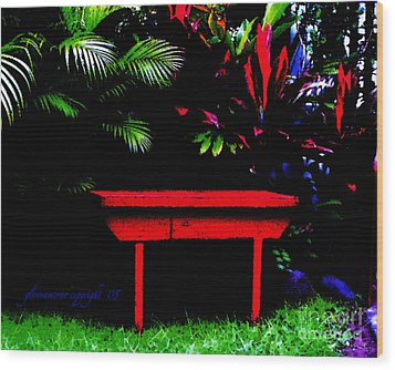 Wood Print featuring the digital art Tropical Dreams by Glenna McRae