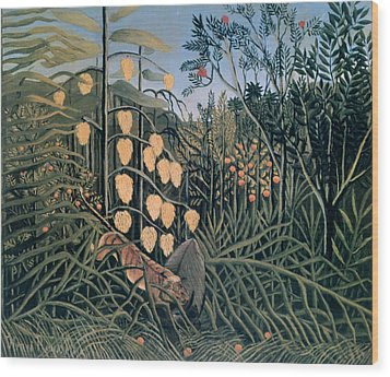 'tropical Forest' By Henri Rousseau Wood Print by Photos.com