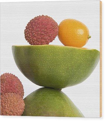 Tropical Fruits Wood Print by Bernard Jaubert
